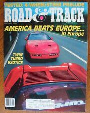 Road & Track August 1987 Prelude 2.0 Thunderbird Turbo 1968 MGB 1973 Alfa Romeo