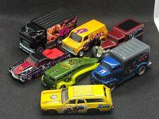 Lot of 7 Loose DC MARVEL Super Hero Pop Culture Real Riders Hot Wheels