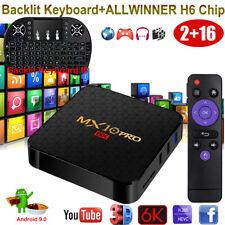 MX10 PRO 2+16G 6K Android 9.0 OS Smart TV BOX Keyboard ALLWINNER WiFi 3D Movies