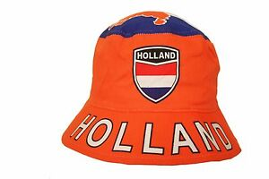 HOLLAND NETHERLANDS COUNTRY FLAG BUCKET HAT .. ADULT SIZE : 7 3/8 .. NEW