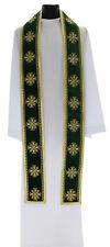 Green Gothic Clergy Stole SHT632-AZA Vestment Étole Verte Grün Stola Verde