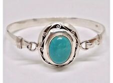 PREMIUM 925 SILVER BRACELET MEXICAN HANDMADE NEW NEPALESE TURQUOISE BANGLE