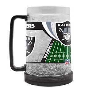 Las Vegas Oakland Raiders Calcio Crystal Freezer Birra Kühlglas 0,4 Lt.
