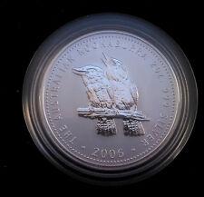 2006 S$2 Australia 2 Oz Silver Kookaburra - low mintage of 12,802!!!