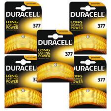 5 x Duracell 377 1.5v Silver Oxide Watch Battery Batteries SR626SW AG4 626 D377