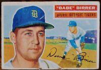 "1956 Topps Baseball Card #84 ""Babe"" Birrer, Detroit Tigers - VG"