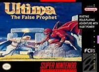 Ultima The False Prophet Super Nintendo Game SNES Used