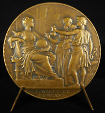 Médaille Grunebaum 1924 Banque Caisse d'Epargne Bank allégorie ruche hive medal