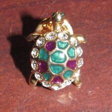 Vintage Fancy Turtle Pin w/ Rhinestones
