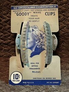 Vintage Goody Hair Wave Clips NOS Mint on Card, 1934