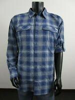 NWT Mens Columbia Kestrel Trail Hiking Long Sleeve Shirt LT-XLT-2XT-3XT - Blue