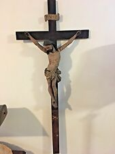 AMAZING LATE RENAISSANCE CARVED WOOD CRUCIFIX FROM STRASBOURG CA. 1670