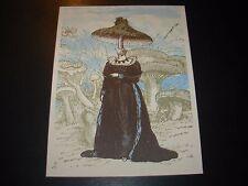 "NATE DUVAL Handbill Silkscreen Print MUSHROOM WOMAN 6 X 8"" like poster art"