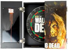 Walking Dead Genuine Dart Board Cabinet Set; 3 darts, scoreboard ~ NEW