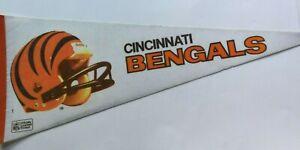 "Vintage NFL Cincinnati Bengals  Pennant 2 Bar Helmet 1980s  29"""