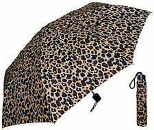 "42"" Leopard Print Super Mini Rain Umbrella - RainStoppers Rain/Sun UV"