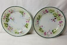 "2 - Vintage Hand Painted Te-Oh China Nippon 7-1/4"" Plates"