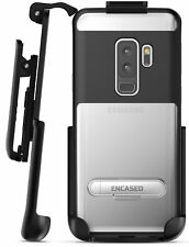 Samsung Galaxy S9 Plus Belt Case, Clear Protective Cover with Holster Clip Black