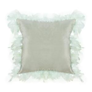 Fabulous Feather Fringe Decorative Velvet Throw Pillow 18'x18