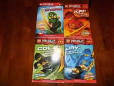 LEGO NINJAGO BOOKS SET OF 4 EUC
