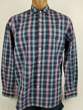 Men's TOMMY BAHAMA Long Sleeve Button Down Pocket Checkered/Plaid Shirt Size M