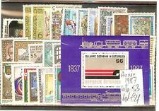 TIMBRES POSTE  AUTRICHE 1987 ANNEE COMPLETE COTE € 53 SANS CHARNIERES