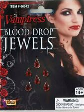 Gothic Vampire Blood Drop Jewels Halloween Accessory Party Fancy Dress NEW SALE