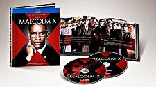 MALCOLM X BLU-RAY 2 DISC DIGIBOOK WITH 40-PAGE BOOKLET DVD DOCUMENTARY