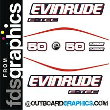 Evinrude 50hp E-TEC outboard engine decals/sticker kit