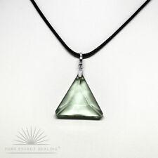 PETITE Green Obsidian Gaia Stone Triangle Pendant [ 2.0cm 0.8inch Crystal ] Casa