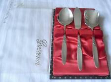 BOXED 3 PC C1960'S GROSVENOR CHRISTINE SUGAR AND JAM SPOONS BUTTER KNIFE