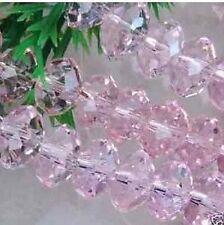 100pc 6x4MM Pink Morganite Gemstone Loose Bead