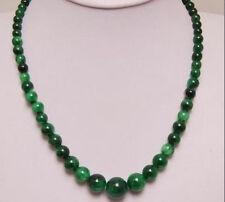 "Gemstone Necklace 18"" Charming! 6-14mm Emerald"