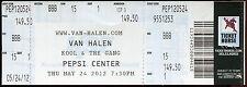 Van Halen 5/24/2012 Different Truth Tour Concert Ticket! Pepsi Center Denver,Co