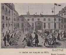 1911  --  LA CHAINE DES FORCATS EN 1834   BICETRE   3B624