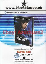 Minority Report DVD 2002 Magazine Advert #7020