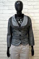 ARMANI Giacca Taglia 42 S Cappotto Jacket Jeans Donna Giubbotto Cotone Grigia