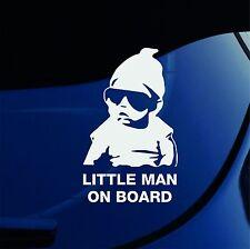 LITTLE MAN ON BOARD - Car Window Bumper Vinyl Decal Sticker