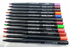 BONJOUR 48 HOURS WATERPROOF 12 PCS MULTI COLOURS  EYE / LIP LINER PENCIL-
