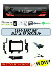 JVC KD-X270BT Stereo Kit for Select 1994-1997 GM Small Pickup SUV, Remote App