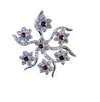 elegante Granat 925 Sterling Silber rot Anhänger echte Lieferungen de Geschenk