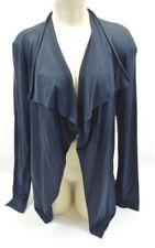 Rozae Nichols Black Long Sleeve Fly Away Contrast Cardigan Size Large