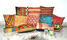 "10 pcs Pillow Cover Throw Kantha Cushion Indian Pillows Gypsy Pillow Boho 16"""