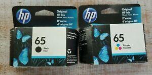 HP 65 Black & Tri-Color Ink 2 Cartridge Combo 2022 GENUINE NEW BOX SEALED