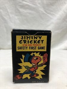 VINTAGE JIMINY CRICKET SAFETY FIRST  GAME RUSSELL CO. DISNEY VOL 1 42 Cards