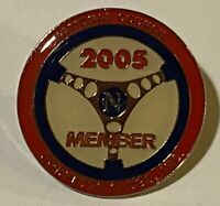 "National Council 2005 Member Corvette Clubs Metal & Enamel Lapel Pin & Clasp 1"""