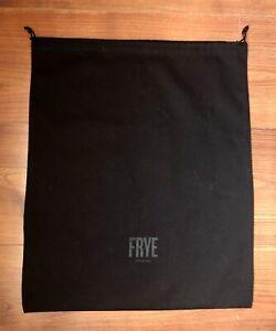 Authentic New Frye Black Dust Bag 14.5 x 17 shoes boots purse