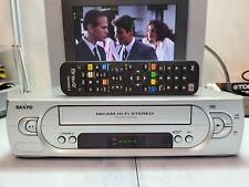 VIDEOREGISTRATORE VHS SANYO H100 STEREO HI-FI 6 TESTINE EX DEMO NEGOZIO + TELEC