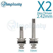2X Hex Driver 2.42mm Dental Abutment Fit AB Alpha Bio MIS Zimmer Adin