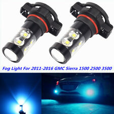 5202 CREE LED Fog Light Lamp For 2011-2016 GMC Sierra 1500 2500 3500 8000K